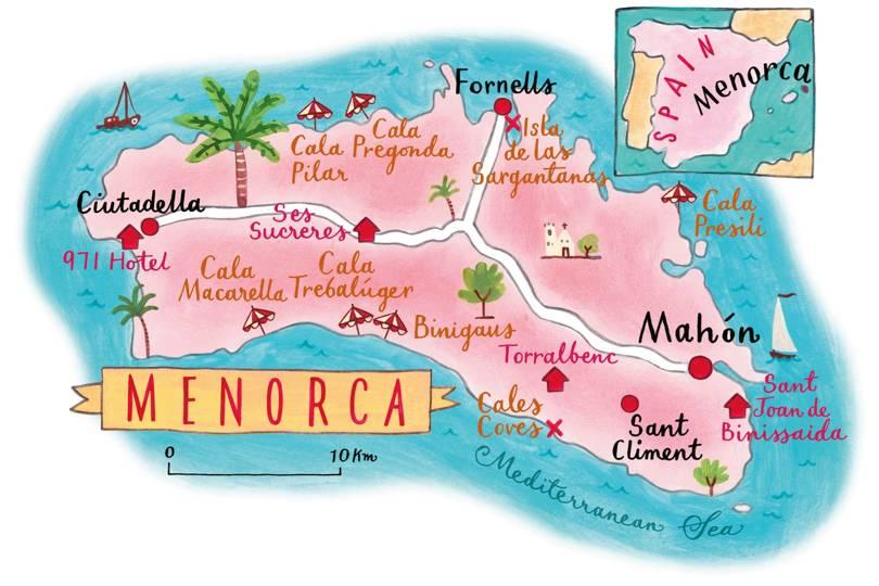 Carte de Minorque